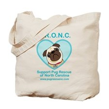 Support Pug Rescue Tote Bag