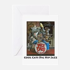 Cool Cats Dig Hip Jazz Greeting Cards (Package of