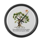 Kenyan Nature Proverb Large Wall Clock