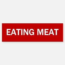 Stop Eating Meat Sign Bumper Bumper Bumper Sticker