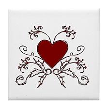 Ivy Heart Tile Coaster