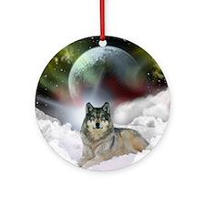 Fantasy Wolf Ornament (Round)