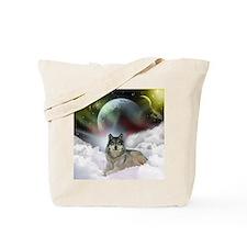 Fantasy Wolf Tote Bag
