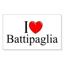 """I Love (Heart) Battipaglia"" Rectangle Decal"