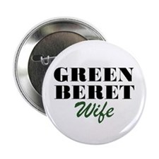 Green Beret Wife Button