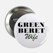 Green Beret Wife Button