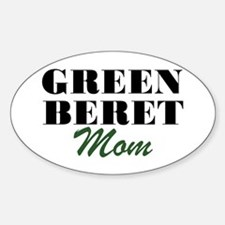 Green Beret Mom Oval Decal