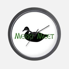 Merry Meet Spirit Duck Wall Clock