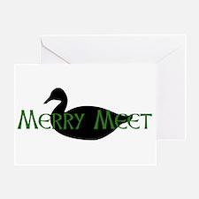 Merry Meet Spirit Duck Greeting Card