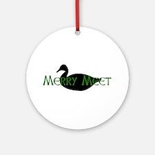 Merry Meet Spirit Duck Ornament (Round)