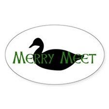 Merry Meet Spirit Duck Oval Decal