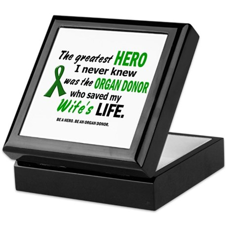 Hero I Never Knew 1 (Wife) Keepsake Box