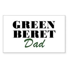 Green Beret Dad Rectangle Decal