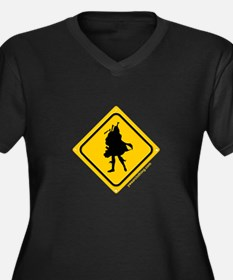 Bagpipe Player Crossing Women's Plus Size V-Neck D