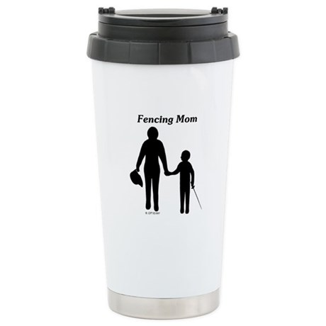 Fencing Mom Stainless Steel Travel Mug