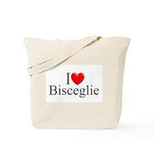 """I Love (Heart) Bisceglie"" Tote Bag"