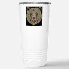 WOVEN BEAR LICKING HEAD Stainless Steel Travel Mug