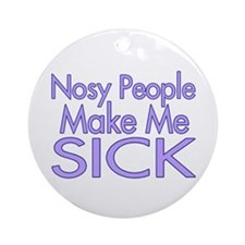 Nosy People Ornament (Round)