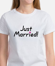 Just Married! (Pink Heart) Tee