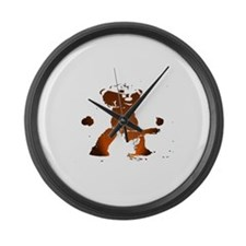 CARTOON BROWN MASTER LEATHER Large Wall Clock