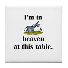 Donkey Heaven Tile Coaster