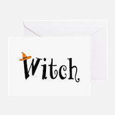 Witch (Orange Hat) Greeting Card