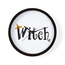 Witch (Orange Hat) Wall Clock