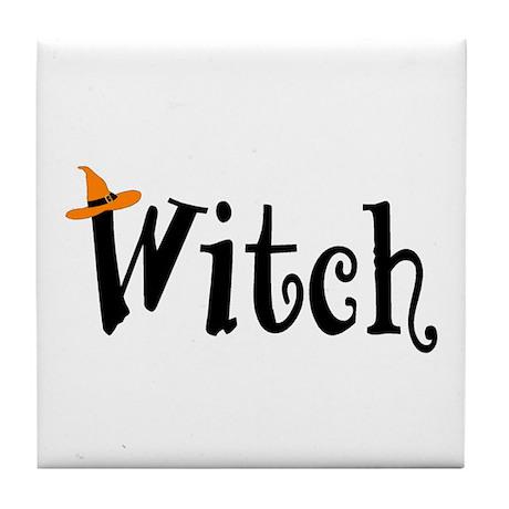 Witch (Orange Hat) Tile Coaster