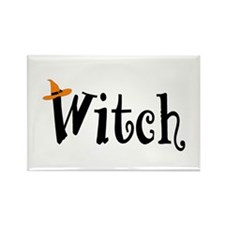 Witch (Orange Hat) Rectangle Magnet