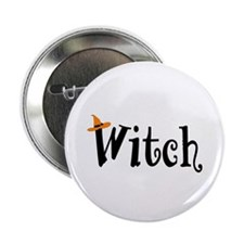 "Witch (Orange Hat) 2.25"" Button"