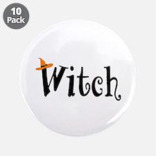 """Witch (Orange Hat) 3.5"""" Button (10 pack)"""