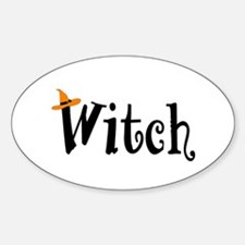Witch (Orange Hat) Oval Decal