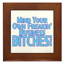 Freakin' Business Framed Tile