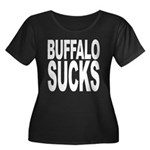 Buffalo Sucks Women's Plus Size Scoop Neck Dark T-