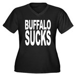 Buffalo Sucks Women's Plus Size V-Neck Dark T-Shir