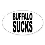 Buffalo Sucks Oval Sticker (10 pk)