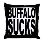 Buffalo Sucks Throw Pillow
