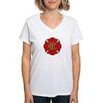 Chicago Fire Women's V-Neck T-Shirt