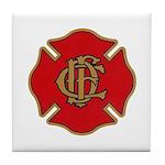 Chicago Fire Tile Coaster