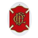 Chicago Fire Oval Ornament