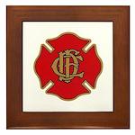 Chicago Fire Framed Tile