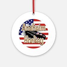 Anaheim Hockey Ornament (Round)
