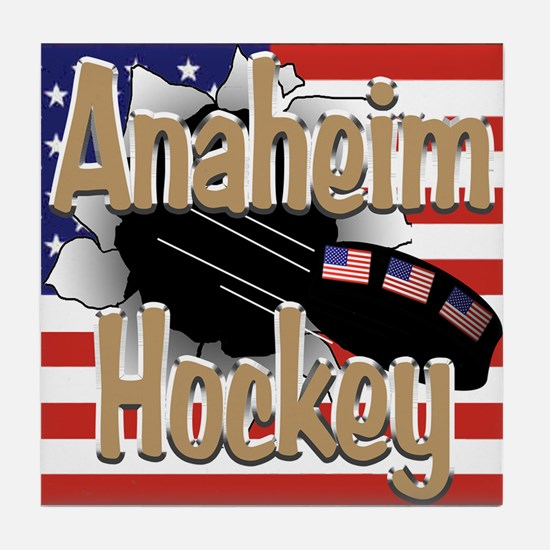 Anaheim Hockey Tile Coaster