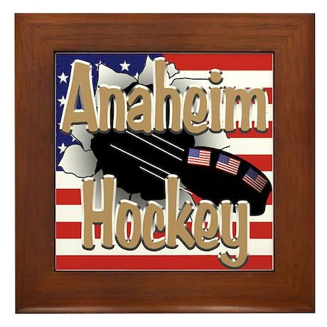 Anaheim Hockey Framed Tile