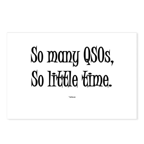 """""""So Many QSOs So Little Time"""" Postcards (Package o"""
