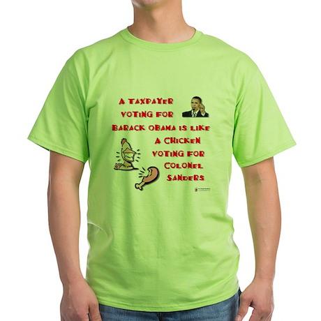 Taxpayer Chicken Green T-Shirt