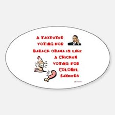 Taxpayer Chicken Oval Decal