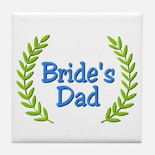 Bride's Dad (ferns) Tile Coaster