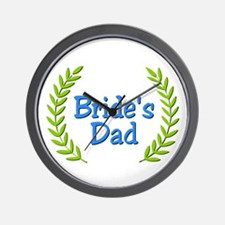 Bride's Dad (ferns) Wall Clock