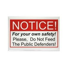 Notice / Defender Rectangle Magnet (10 pack)